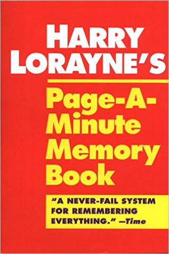 harry lorraine page a minute memory book