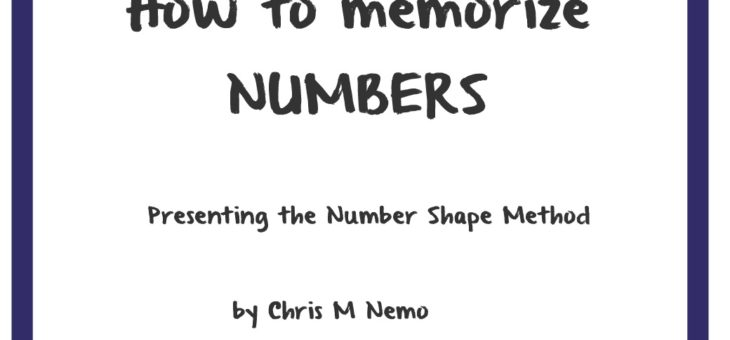 The Number Shape Method for memorize numbers