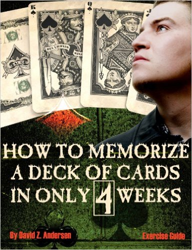 How to memorize a deck of cards in 4 weeks: Exercise Guide